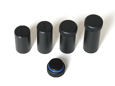 Containers for standard and enhanced cooling cameras also in variants allowing tool-less manipulation