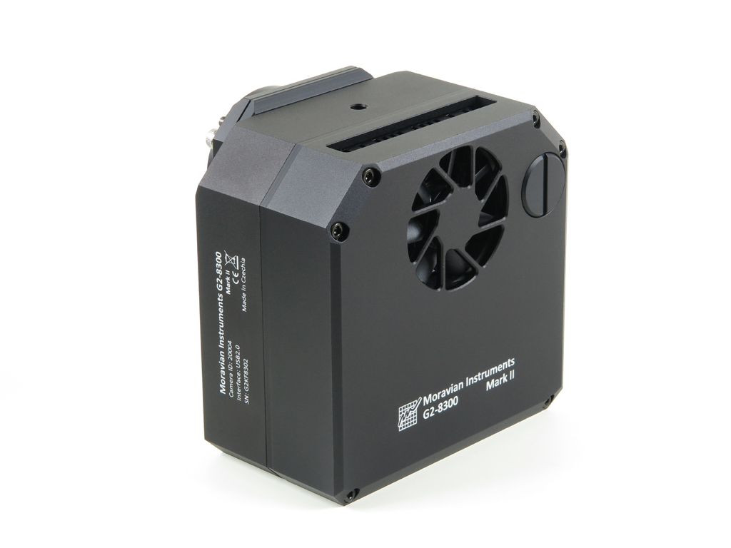 Back side of the G2 Mark II camera head contains vents for a fan, cooling Peltier hot side