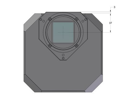 G4 Mark II camera head front view dimensions